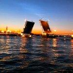 Palastbrücke Sankt Petersburg Weiße Nächte