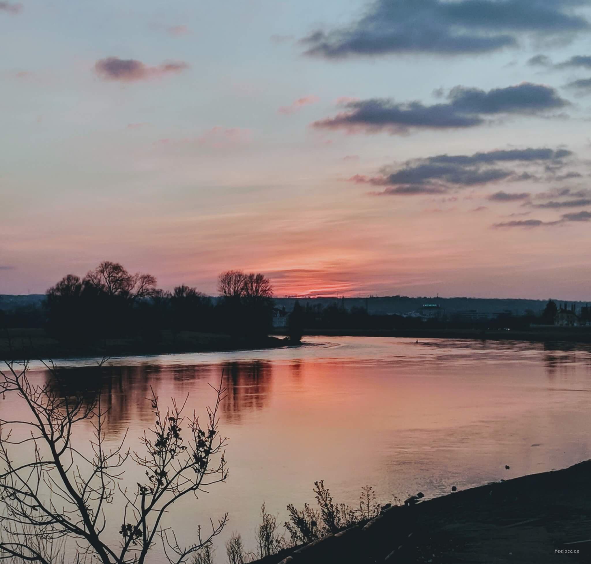 Abendrot Elbe