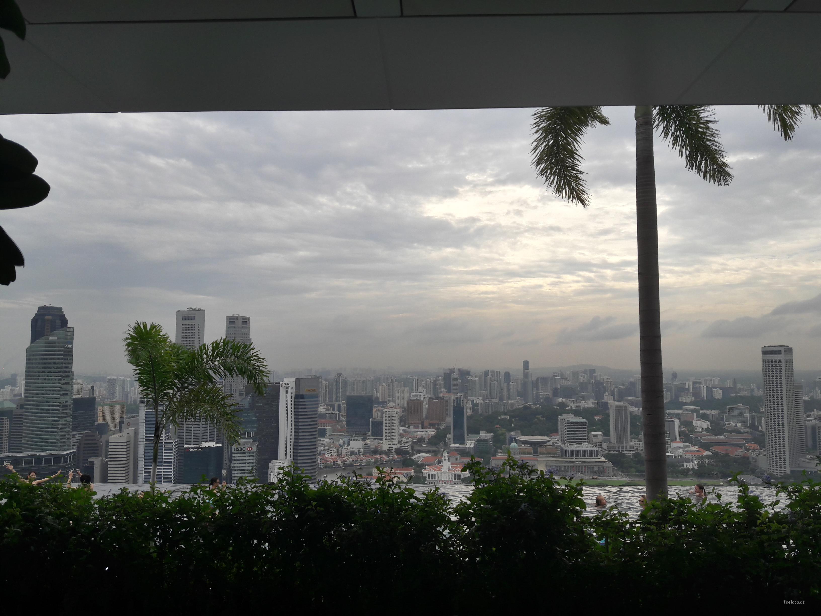 Marina Bay Sands Hotel Sunset