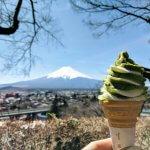 Grüner Tee Eis am Mt. Fuji