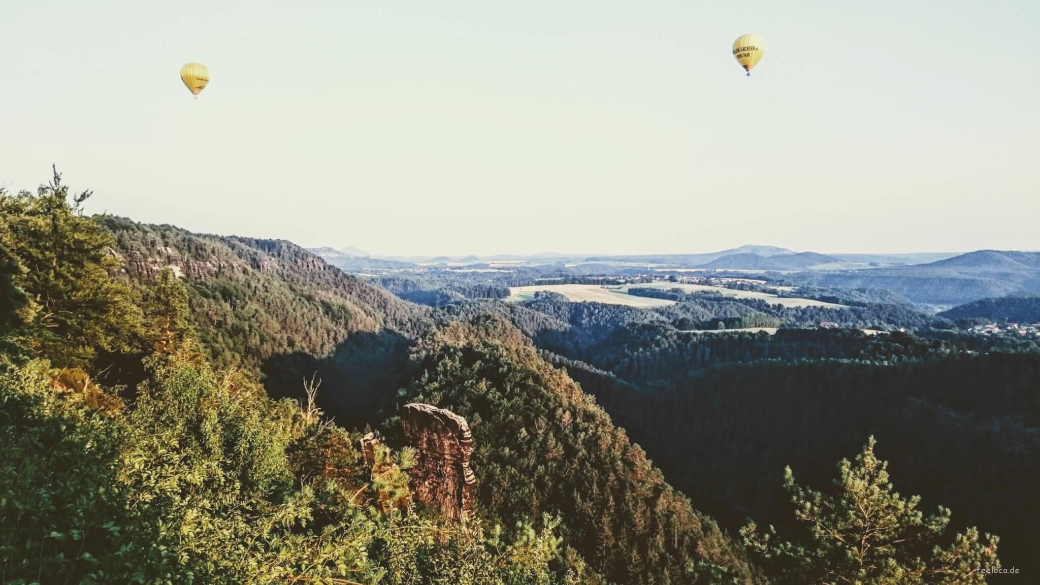 Aussicht vom Balkon der sächsischen Schweiz