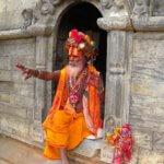 Saddhu im hinduistischen Heiligtum Pashupatinath