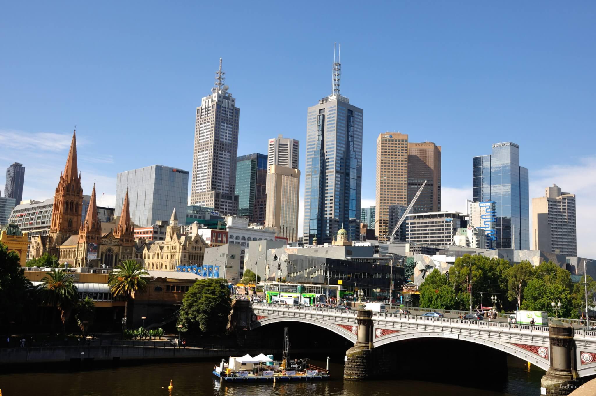 Skyline Melbourne City
