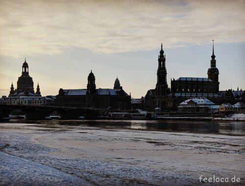 Dresden Winter Skyline